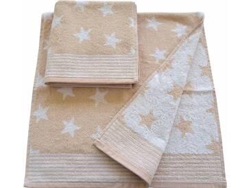 Dyckhoff Handtücher »Stars«, mit Sternen und Bordüre, natur, Walkfrottee, sand