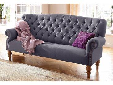 Home affaire 3-Sitzer »Lord«, mit echter Chesterfield-Knopfheftung und Ziernägeln, rot, 188 cm, purple