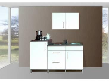 MENKE MÖBELWERKE Küchenzeile mit E-Geräten »Rack-Time Single 180«, weiß, ohne Aufbauservice, weiß