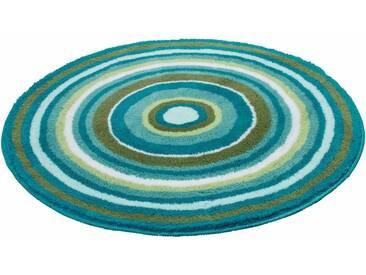 Kleine Wolke Badematte »Mandala« , Höhe 20 mm, rutschhemmend beschichtet, fußbodenheizungsgeeignet, grün, 20 mm, türkis