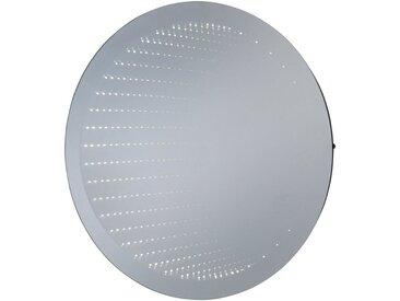LED-Lichtspiegel »Barcelona rund«, mit Infinity-Effekt, silberfarben, silberfarben