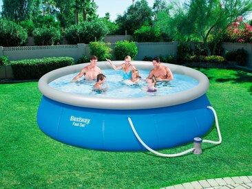 Bestway BESTWAY Set: Quick-Up Pool »Fast Set™«, mit Filterpumpe, ØxH: 396x84 cm, blau, 396 cm x 84 cm, blau