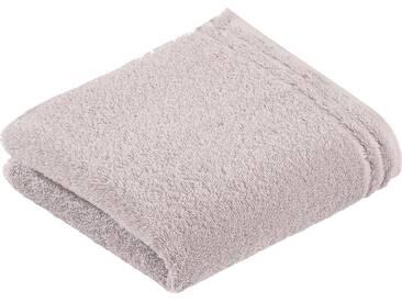 Vossen Handtücher »Calypso«, mit schmaler Bordüre, grau, Walkfrottee, light grey