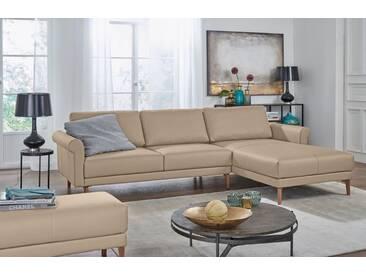 Hülsta Sofa hülsta sofa Polsterecke »hs.450« im modernen Landhausstil, Breite 262 cm, natur, Recamiere rechts, beige