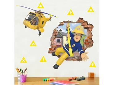Bilderwelten Wandtattoo »Feuerwehrmann Sam - bringt dich in Sicherheit«, bunt, Farbig