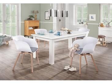 Home affaire Esstisch »Ixo« Mit 2 dekorativ geschwungenen Oberplatten.. Hochwertige Verarbeitung, zeitloses Design., weiß, Maße(B/T/H): 180/90/74.6