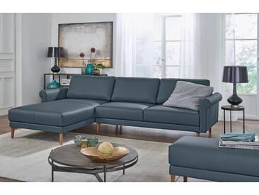 Hülsta Sofa hülsta sofa Polsterecke »hs.450« im modernen Landhausstil, Breite 262 cm, grau, Recamiere links, blaugrau