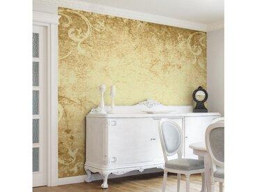 Bilderwelten Vliestapete Quadrat »Pergament mit Ornamentik«, goldfarben, 288x288 cm, Gold