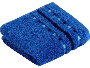 Vossen Gästehandtücher »Atletico«, mit aufwändiger Bordüre, blau, Wirkfrottee, orbit