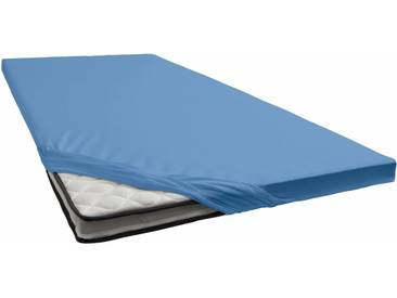 Janine Spannbettlaken »Jersey-Elasthan«, für Topper, blau, Jersey-Elasthan, blau