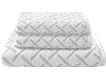 Dyckhoff Handtuch Set, »Stripes«, mit Muster und Bordüre versehen, silberfarben, 3tlg.-Set (siehe Artikeltext), Silberfarben