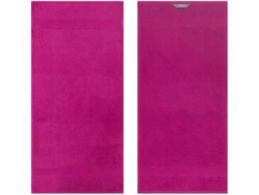 Egeria Badetuch »Diamant«, in Uni gehalten, rosa, Frotteevelours, pink