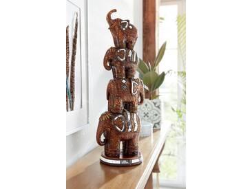 Home affaire Dekofigur »Orientalische Elefanten«, braun, braun