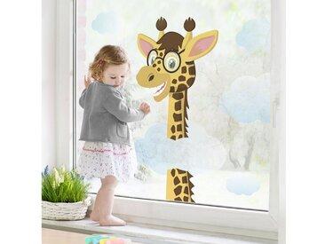 Bilderwelten Fenstersticker »Lustige Giraffe«, braun, Braun