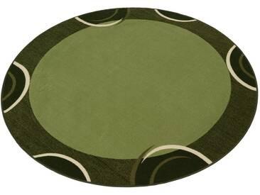 THEKO Teppich »Loures«, rund, Höhe 6 mm, grün, 6 mm, grün
