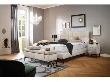 ADA premium Boxspringbett »Smart Elegance« Grand Comfort TF 1000 PM, natur, 7-Zonen-Tonnentaschen-Federkernmatratze H3, beige THO 2
