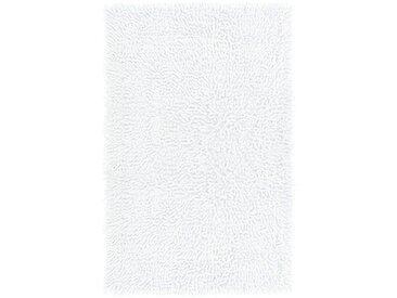 Lashuma Badematte »Chenille« , Höhe 20 mm, fußbodenheizungsgeeignet, Badvorleger Rechteckig, Größe: 50x80 cm, weiß, weiß