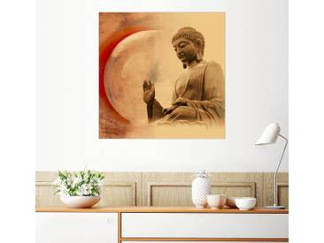 Posterlounge Wandbild - Christine Ganz »Buddha III«, bunt, Holzbild, 120 x 120 cm, bunt