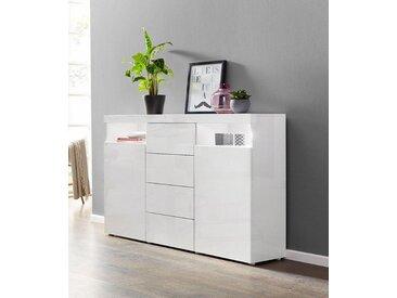 borchardt Möbel Borchardt Möbel Highboard »Kapstadt«, Breite 139 cm, weiß, weiß Hochglanz/weiß Hochglanz