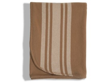 Lexington Wolldecke »Striped Wool«, braun, beige
