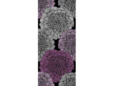living walls Bordüre »pop.up Panel 94248«, gemustert, floral, Made in Germany, lila, schwarz-violett