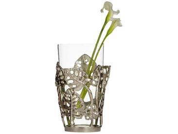 heine home Deko-Vase mit Blätter-Dekor, silberfarben, silberfarben/klar