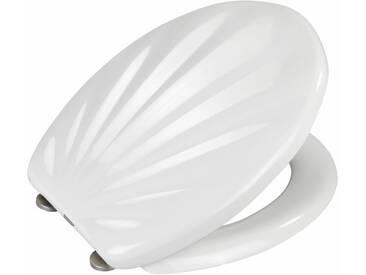WENKO Premium WC-Sitz Muschel, mit Absenkautomatik, weiß, Weiß