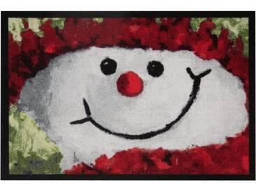 HANSE Home Fußmatte »Snowman«, rechteckig, Höhe 7 mm, rot, 7 mm, rot
