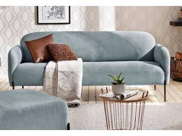 andas 3-Sitzer »Bold«, edles, skandinavisches Design, mit Stahlbeinen, blau, petrol