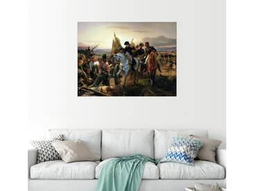 Posterlounge Wandbild - Emile Jean Horace Vernet »Schlacht von Friedland«, bunt, Holzbild, 130 x 100 cm, bunt