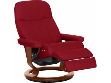 Stressless® Relaxsessel »Garda« mit Classic Base und LegComfort™, Größe M, mit Schlaffunktion, rot, Fuß braun, red