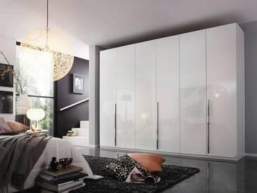 rauch Dialog Kleiderschrank »Montclar«, mit umfangreichen Zubehör, weiß/Hochglanz weiß, Breite 300 cm, 6-türig
