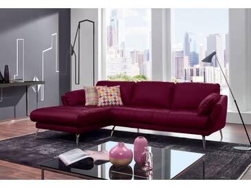 W.SCHILLIG Polsterecke »softy« mit Heftung im Sitz, rot, Recamiere links, winered