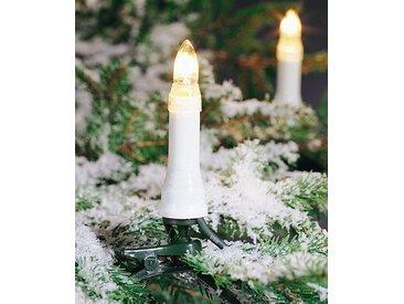 KONSTSMIDE Baumkette, Topbirnen, teilbarer Stecker, weiß, Lichtquelle klar, 30 klare Birnen, Weiß