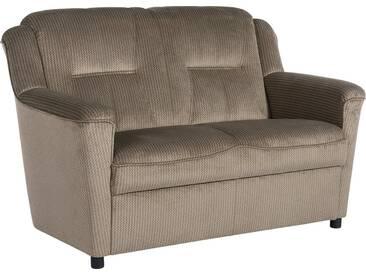 Max Winzer® 2-Sitzer Sofa »Plauen«, mit Keder-Verzierung, Breite 130 cm, braun, hellbraun