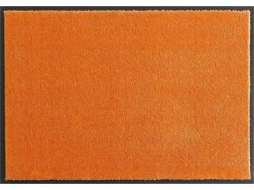 HANSE Home Fußmatte »Deko Soft«, rechteckig, Höhe 7 mm, saugfähig, waschbar, orange, 7 mm, orange