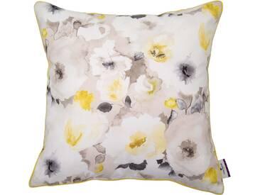 Tom Tailor Kissenhüllen »Harmony Flowers«, natur, Polyester, beige-gelb