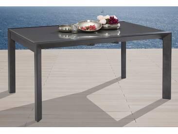MERXX Gartentisch »San Remo«, Aluminium, ausziehbar, 160-220x104 cm, silber, grau, 160-220 cm x 104 cm, anthrazit/silberfarben