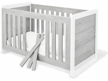 Pinolino® Pinolino Kinderbett »Curve«, weiß, weiß/grau