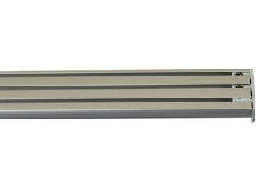 GARESA Gardinenschiene »Flächenvorhangschiene 2 - 5 lauf, spezial«, 3-läufig, Wunschmaßlänge, grau, aluminiumfarben