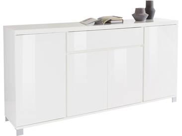 HMW Sideboard »Thila«, Breite 193 cm 4-türig, weiß, weiß Hochglanz