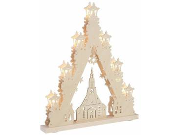 SAICO Original Lichterbogen »Seiffener Kirche«, in 3D Optik, natur, natur