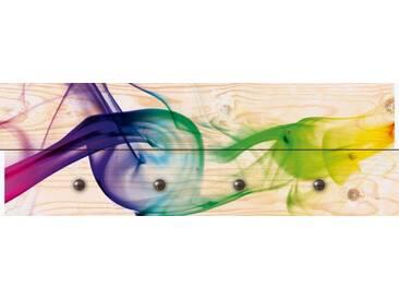 Artland Wandgarderobe »Benko Zsolt: Rauch - Abstrakt«, 30 x 90 x 2,8 cm, Farbig