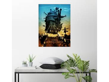 Posterlounge Wandbild - Albert Cagnef »Howl's Moving Castle 2«, bunt, Acrylglas, 120 x 160 cm, bunt