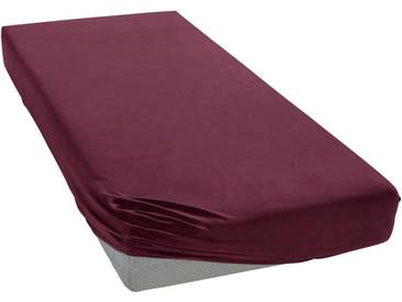 Janine Spannbettlaken »Elastic-Jersey«, auch für Wasserbetten, rot, Jersey-Elasthan, burgund