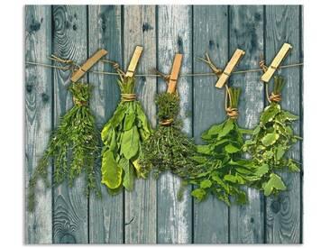 Artland Küchenrückwände »Team 5: Kräuter mit Holzoptik«, grün, 60x70 cm, Grün