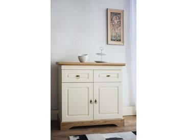 Home affaire Sideboard »Provence« mit 2 Holztüren und 2 Schubladen, gelb, cremefarben/honigfarben