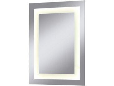 welltime WELLTIME Badspiegel »Miami«, LED-Spiegel, 45 x 60 cm, silberfarben, 45 cm, silberfarben