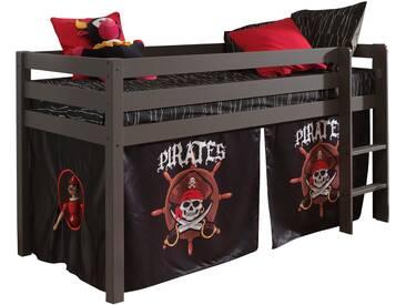 Vipack Hochbett, Furniture, bunt, Taupe lackiert, Pirat