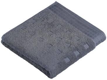 Vossen Badetuch »Country Style«, aus 100% FAIRTRADE Baumwolle, grau, Walkfrottee, dunkelgrau